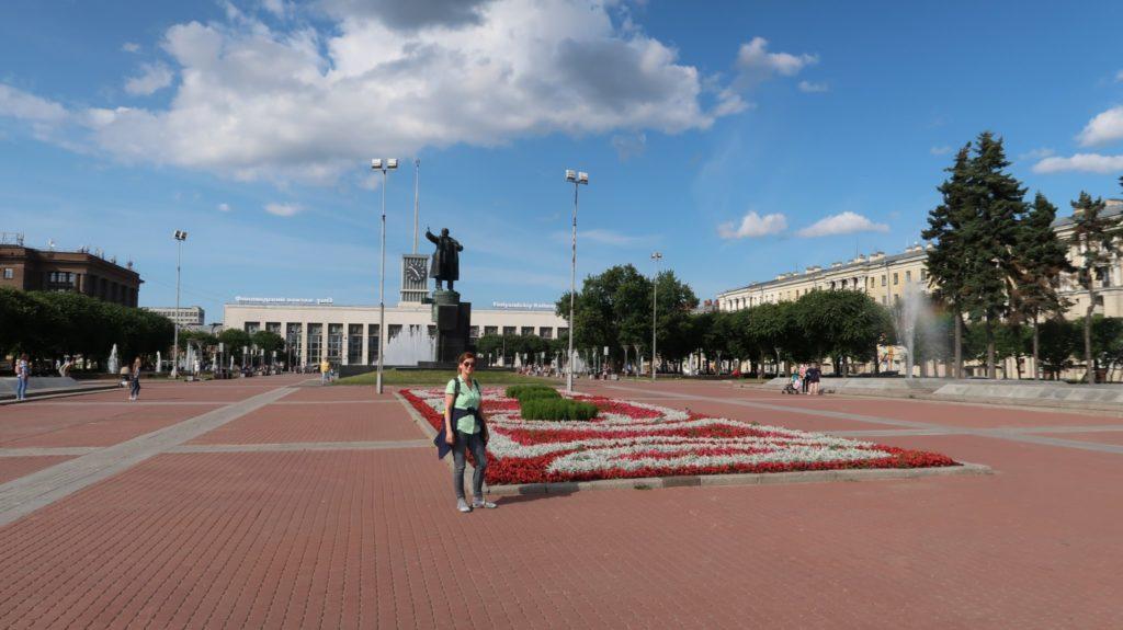 Hier hat die Oktoberrevolution begonnen - Leninplatz in St. Petersburg