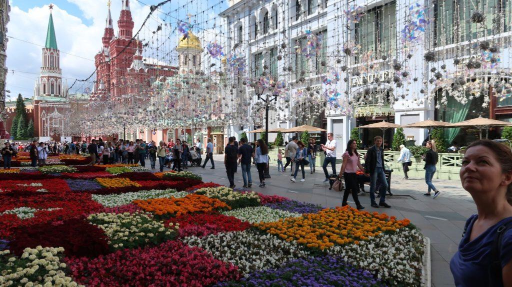 Der Kreml in Moskau mit den Einkaufzentren