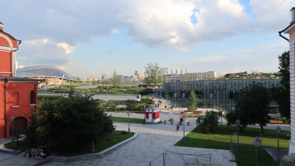 Parkanlage in Moskau, neben dem roten Platz