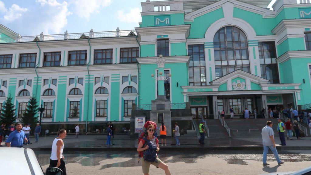 Bahnhof Omsk Russland