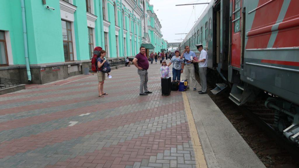 Transsibirische Eisenbahn in Omsk, Russland