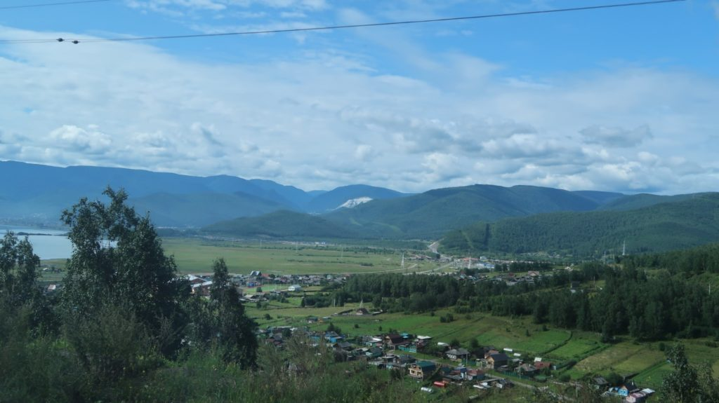 Baikalsee - Ausblick vom Zug Transsibirische Eisenbahn
