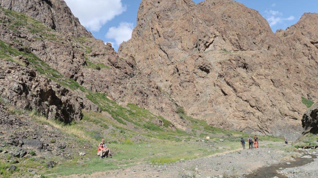 Ein tolles Gebirge in der Wüste Gobi, im Süden Mongolias