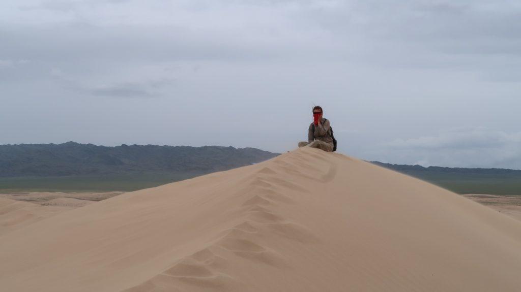anstrengender Aufstieg auf die Sanddünen
