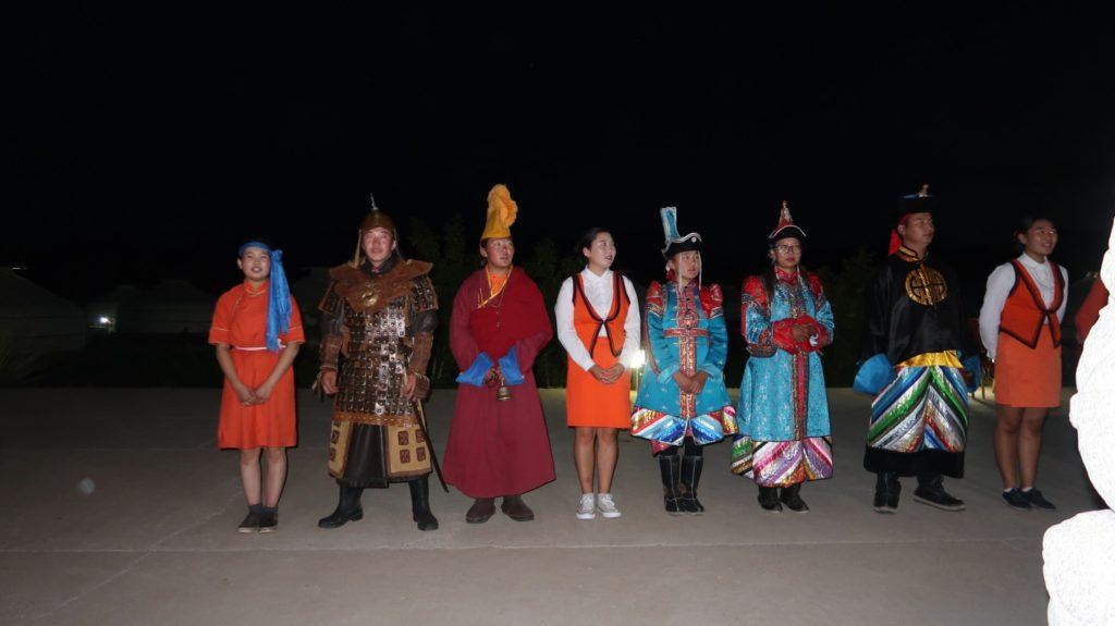 Vorführung in der Mongolei