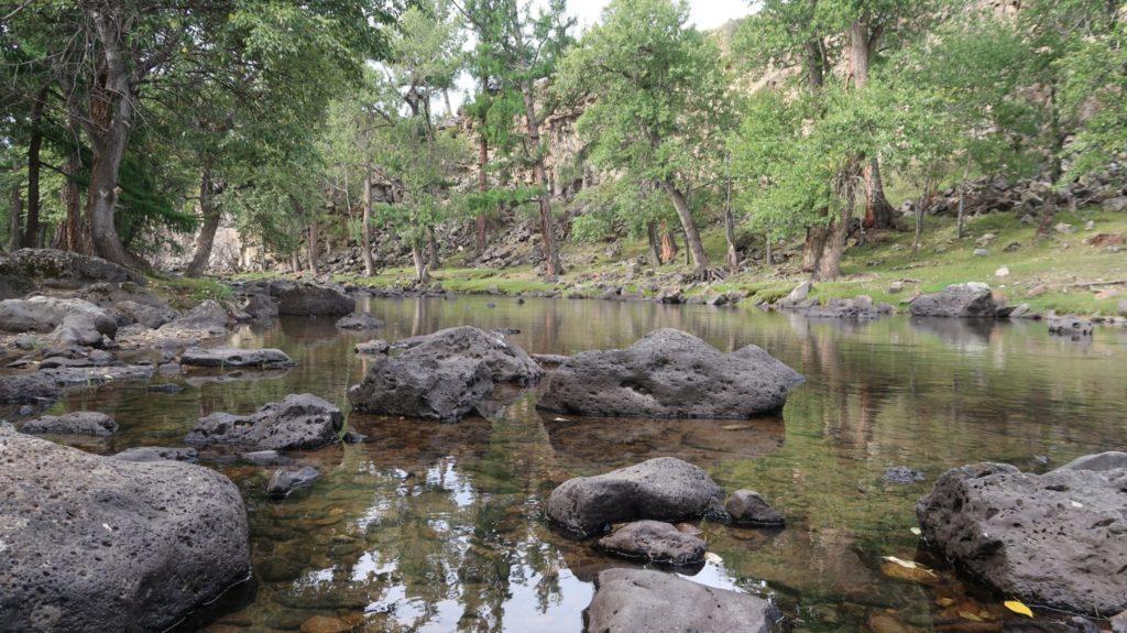 Orkhon Tal und Wasserfall in der Mongolei