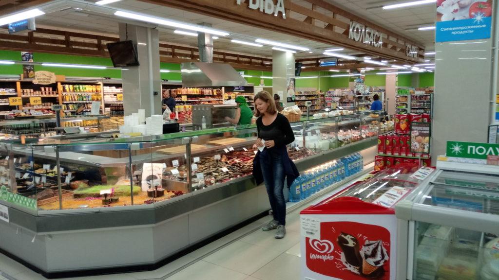 Russland - Shoppen im Supermarkt