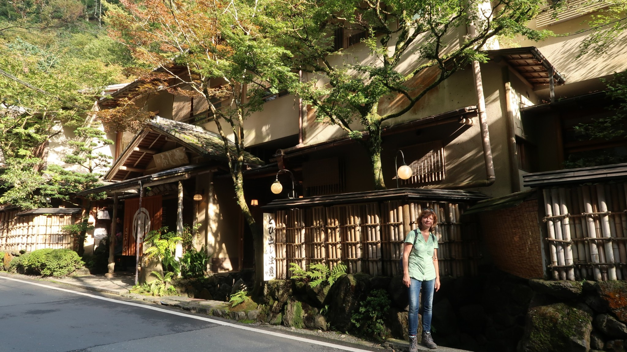 Wanderungen zum Dorf Kibune, Kyoto