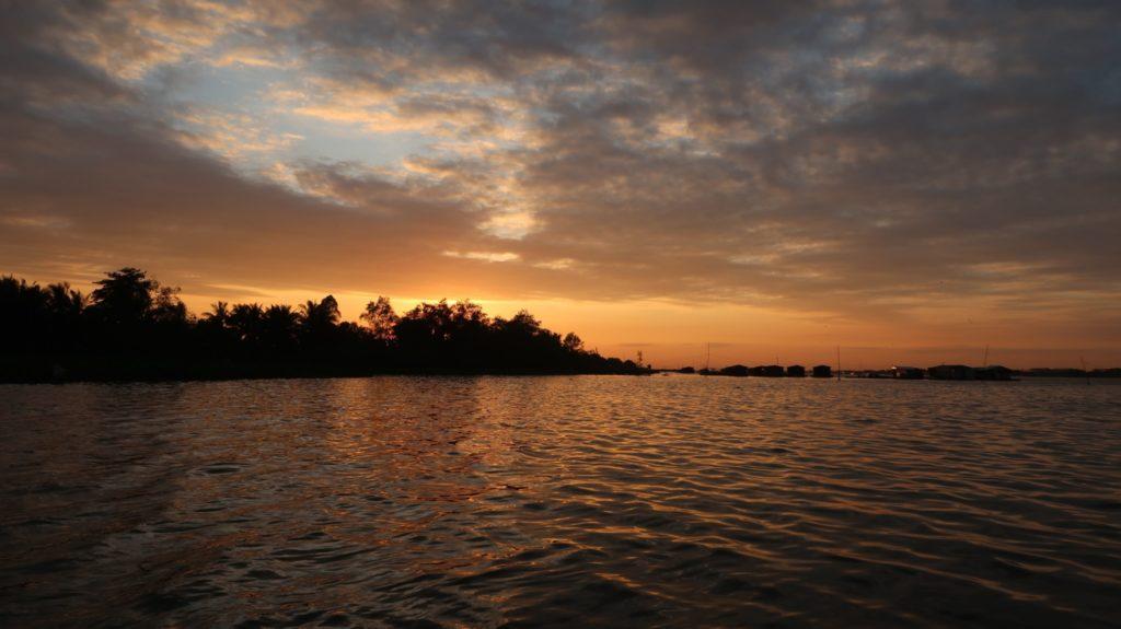 Vietnam Sunset Mekong Delta