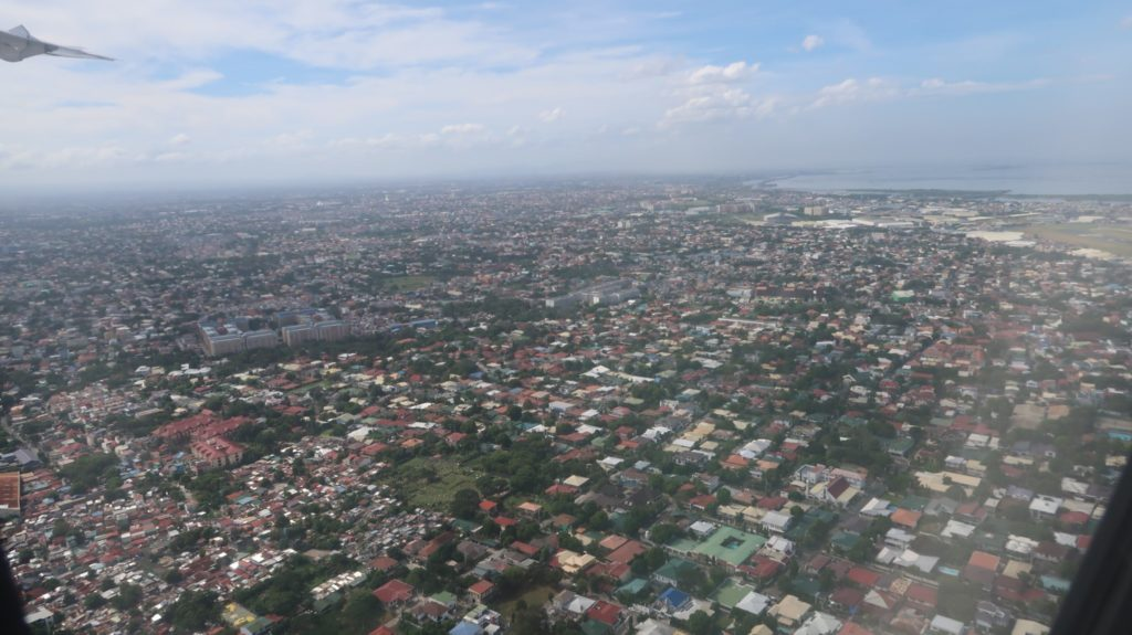 Anflug Manila, Philippinen