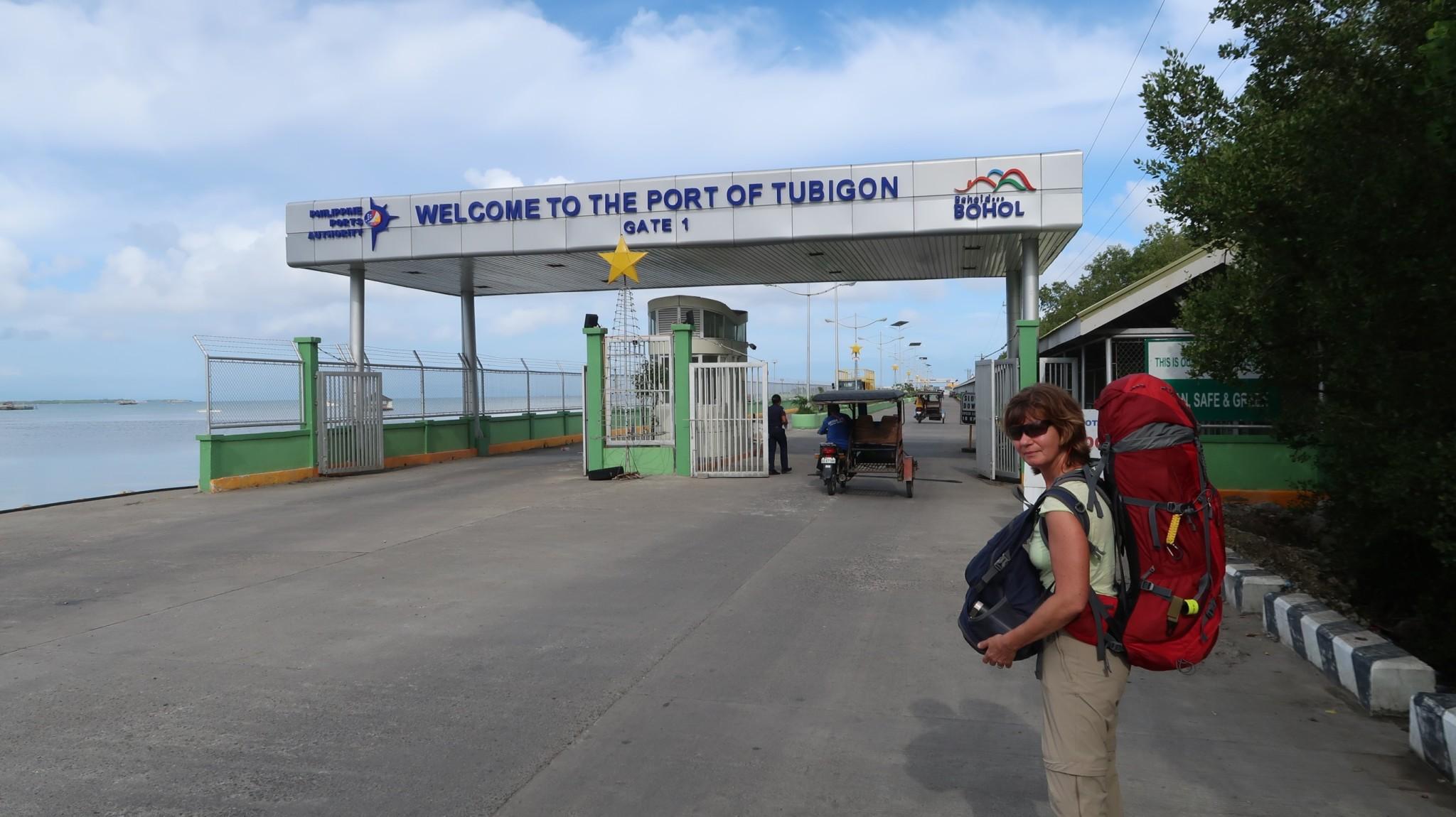 Pier in Tubigon auf der Insel Bohol