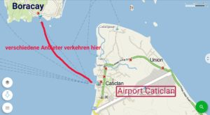 Skizze Ferry Caticlan
