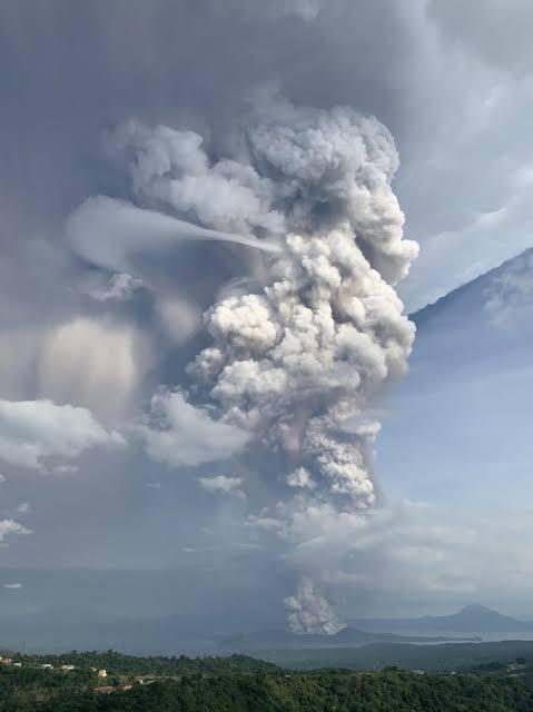 Taal Vulcano Ausbruch am 12.01.2020