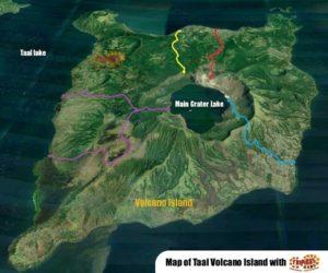 Inseldarstellung Taal Vulcano