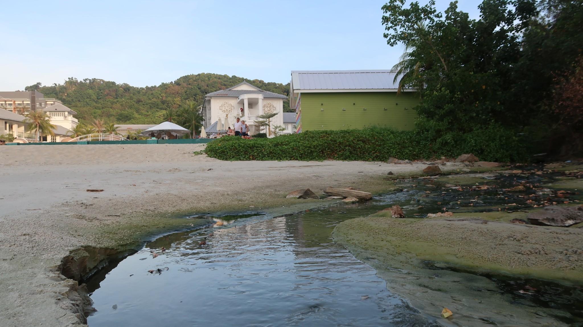 Abwasser ins Meer Langkawi