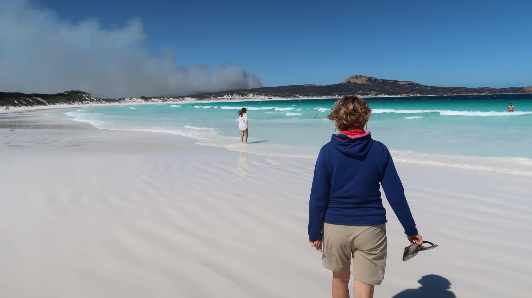Lucky Bay Australien Buschbrand