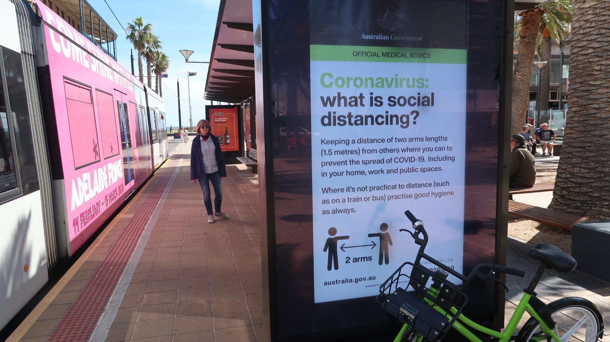 Corona-Hinweise, social distancing