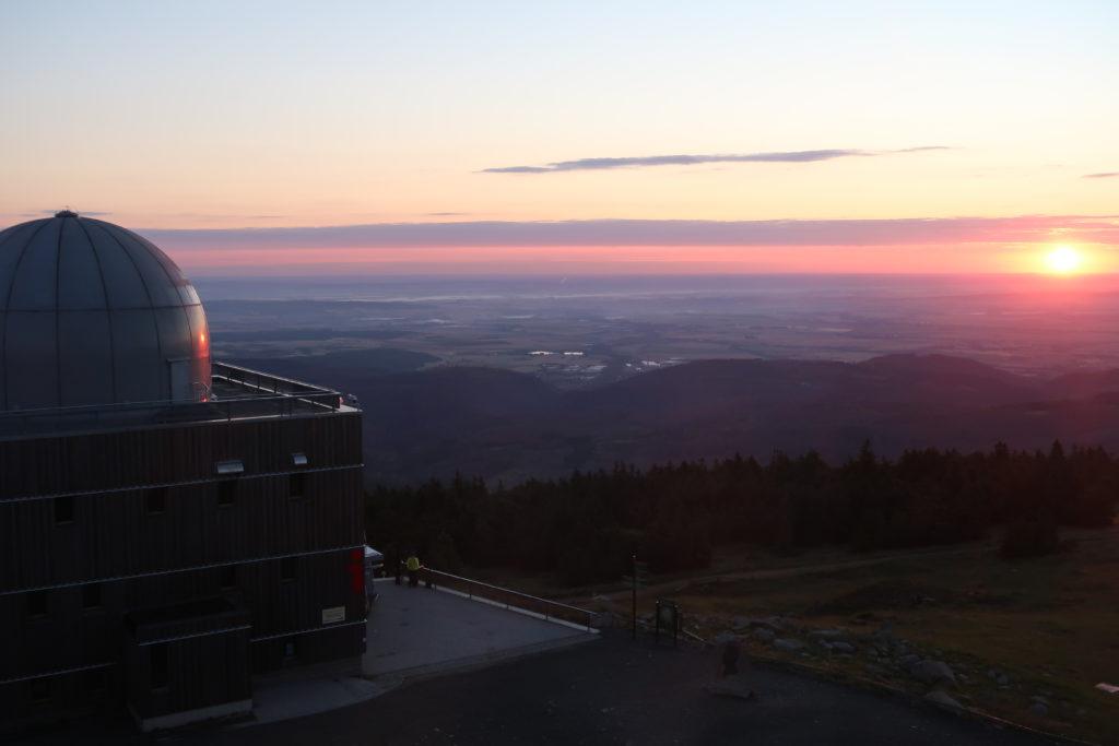 Sonnenaufgang vom Brocken im Harz 2020