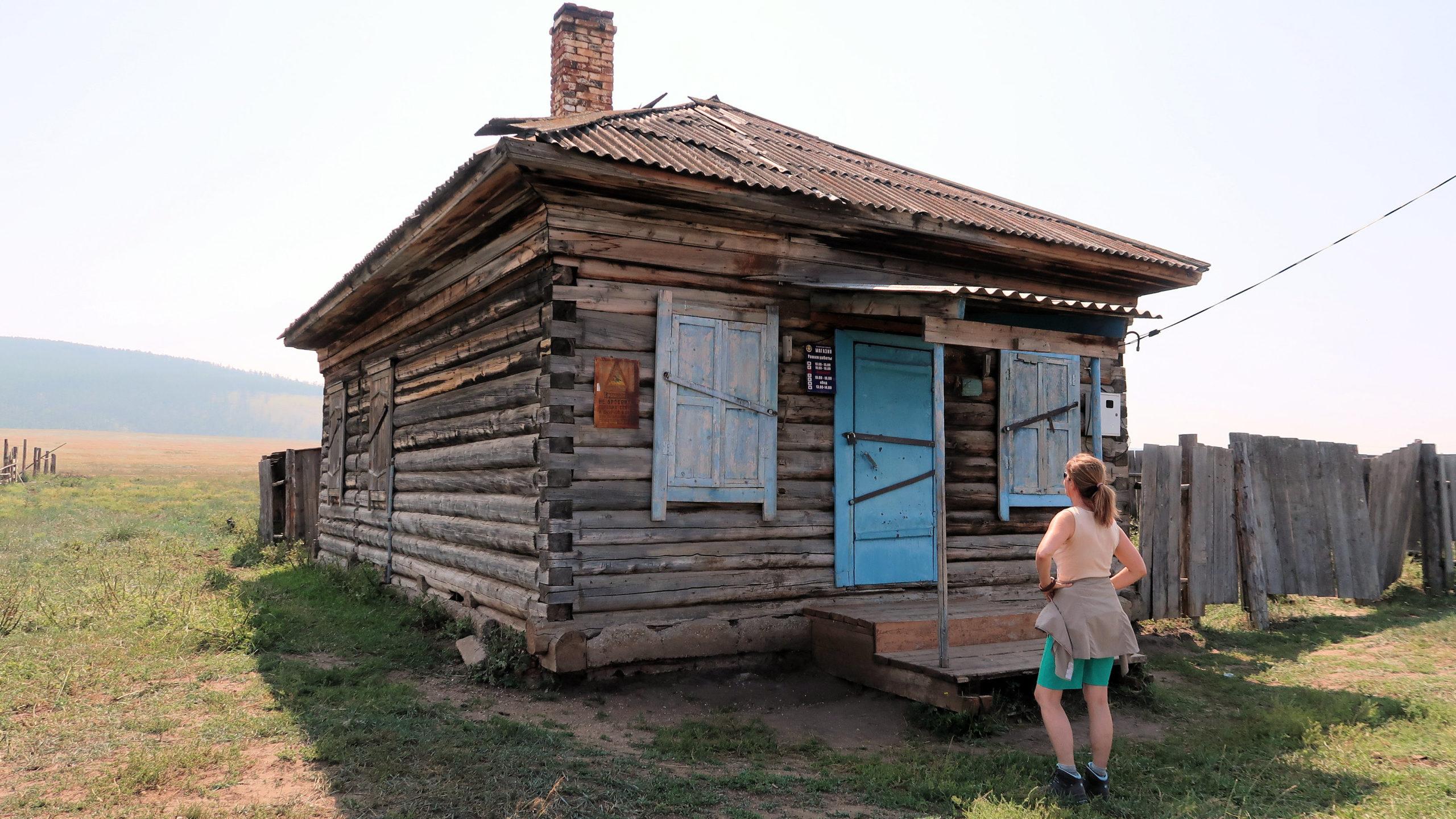 Kiosk am Baikalsee, Russland dem grössten Land der Erde