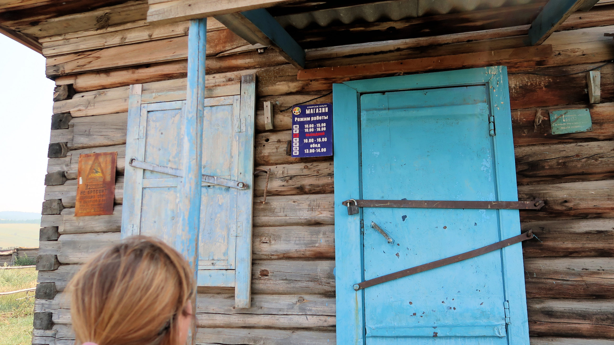 einfacher Kiosk, Russland dem grössten Land der Erde